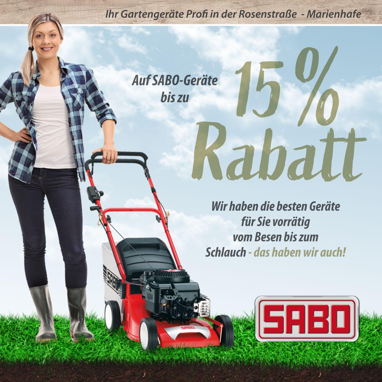 15% auf SABO Geräte