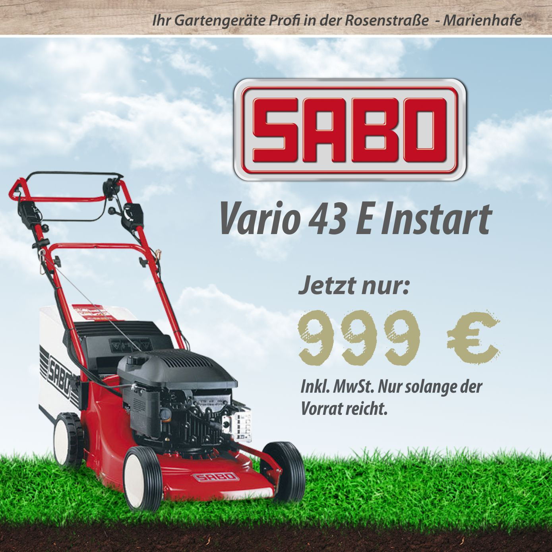 Angebot SABO VARIO E Instart